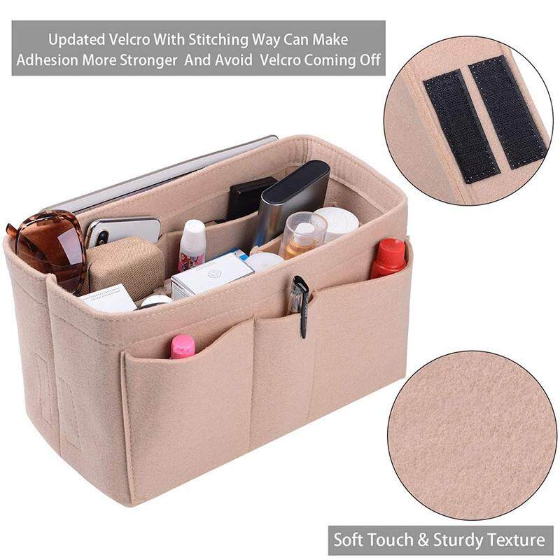 EverToner Purse Organizer Insert,Felt Bag Organizer ,Tote and handbag shaper