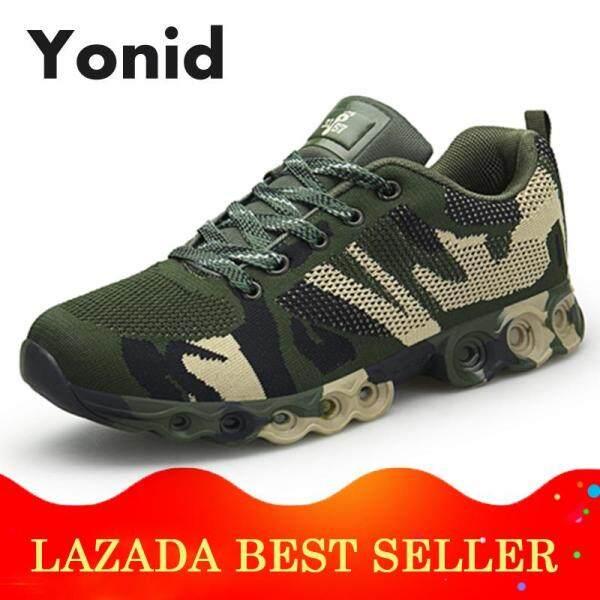 Yonid Size 37-45 Ngoài Trời Giày Thể Thao Nam Đi Bộ Đường Dài Mềm Đi Bộ Ngoài Đường Giày Cam Phối Giày Leo Núi