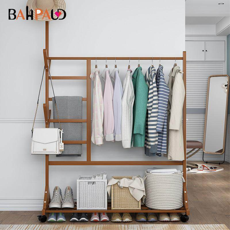 Simple Creative Coat Rack Solid Wood Floor Bedroom Simple Hanger Landing Hanger Simple Modern