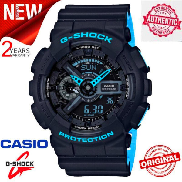 (HOT SALE with FREE SHIPPING) Original G Shock GA-110LN-1A Men Sport Watch 200M Water Resistant Shockproof and Waterproof World Time LED Auto Light Wrist Sport Digital Watch with 2 Year Warranty GA110/GA-110 Malaysia