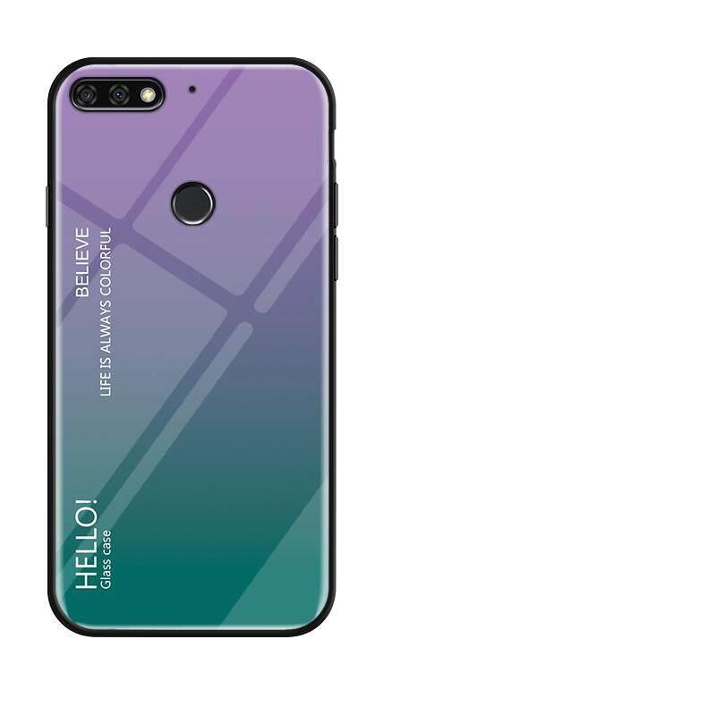 Untuk Huawei Nova 2 Lite Kehormatan 7C Menikmati 8 Y7 Prime 2018 Gradien Warna Kaca Antigores