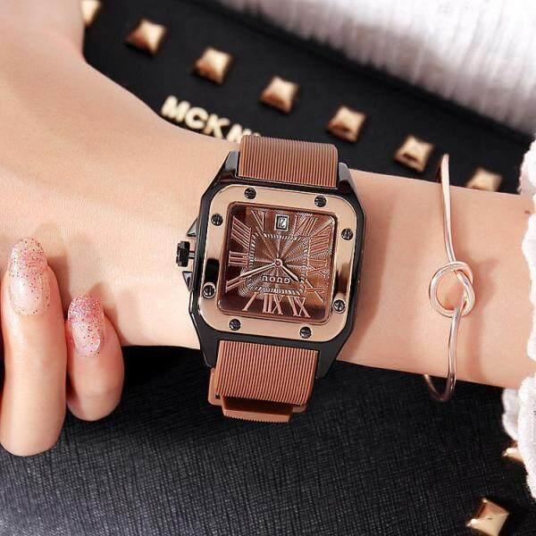 Fashion GUOU Brand Women Watches Lady Luxury Wristwatches Rubber Silicon Dress Watch Square Quartz Dress Gift Student Clocks Malaysia