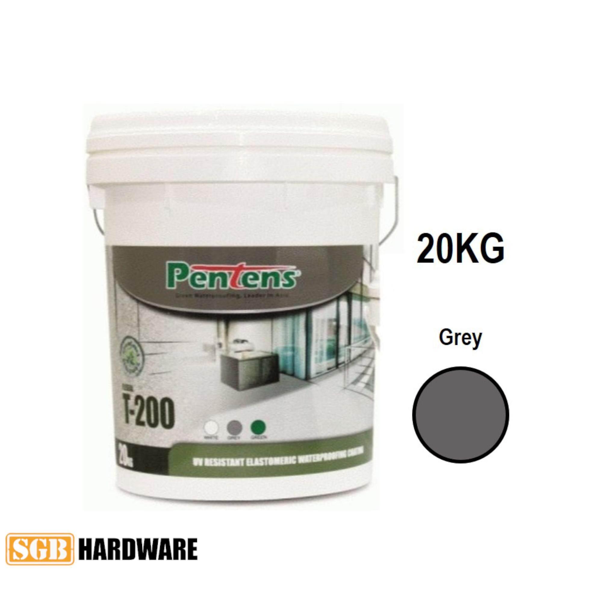 20KG PENTENS T-200 UV Resistant Elastomeric Waterproofing Coating T200 (White / Grey)