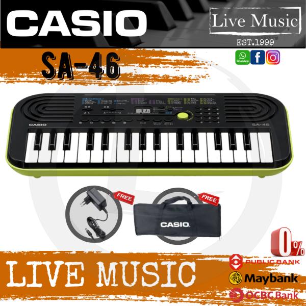 Casio SA-46 32-Key Mini Keyboard Green With SC-40 Bag (SC40 / SA46 / SA 46) Malaysia