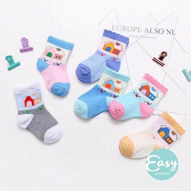 [ Random 6 Pairs ] Baby Infant Socks Newborn - 1 Years Old By Easy Wearhouse.