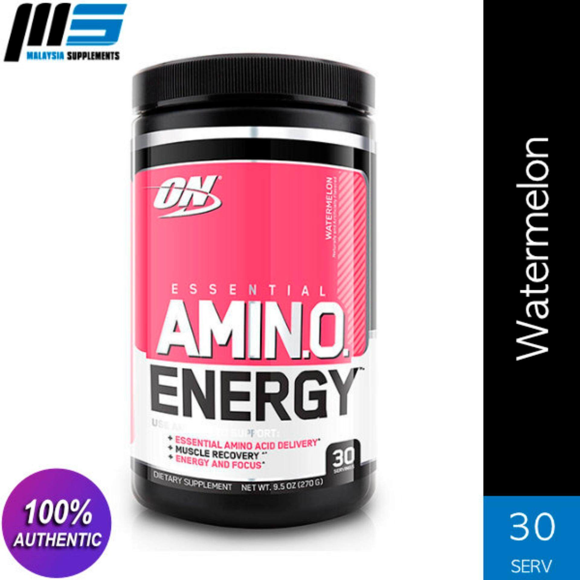 Optimum Nutrition Essential Amino Energy, Watermelon, 30 Servings - ON Pre  Workout, Preworkout, Amino Acids, Glutamine, BCAAs, Muscle Building,