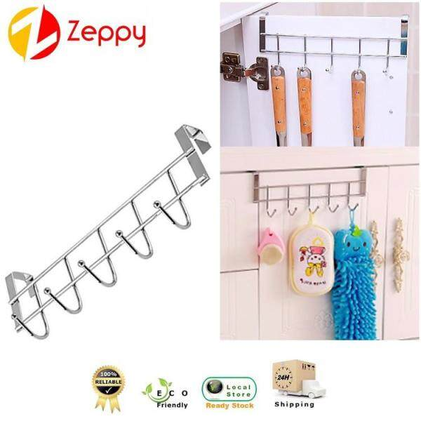 Multipurpose Stainless Steel 5 Hooks Organizer Cabinet Coat Rope Hanging Rack