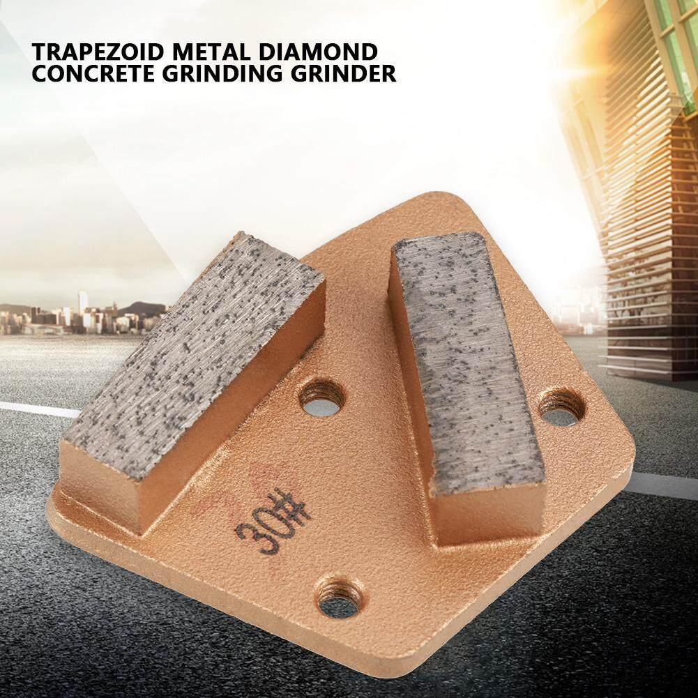 Trapezoid Diamond Concrete Grinding Disc Pad for Grinder Grit 30(3 Holes 2 Straight Teeth)