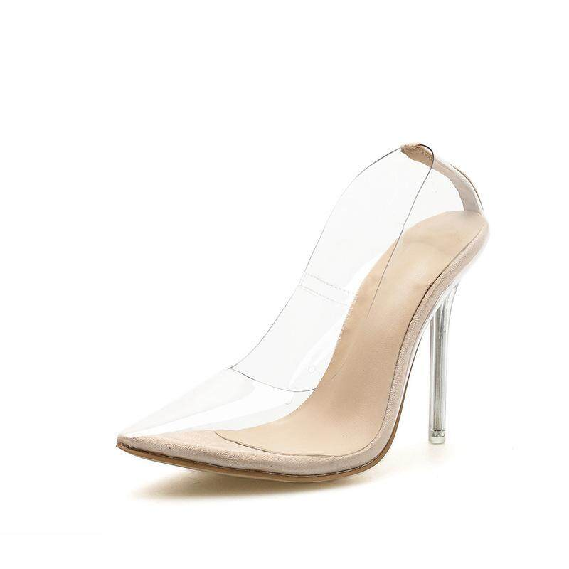 Womens Shoes European Large Size Shoes Transparent Film Pointed High Heels Stiletto Fashion Womens Shoes By Hyacinthus Orientalis L.