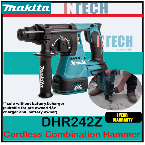 MAKITA DHR242Z 18V CORDLESS COMBINATION HAMMER (WITHOUT BATTERY & CHARGER)