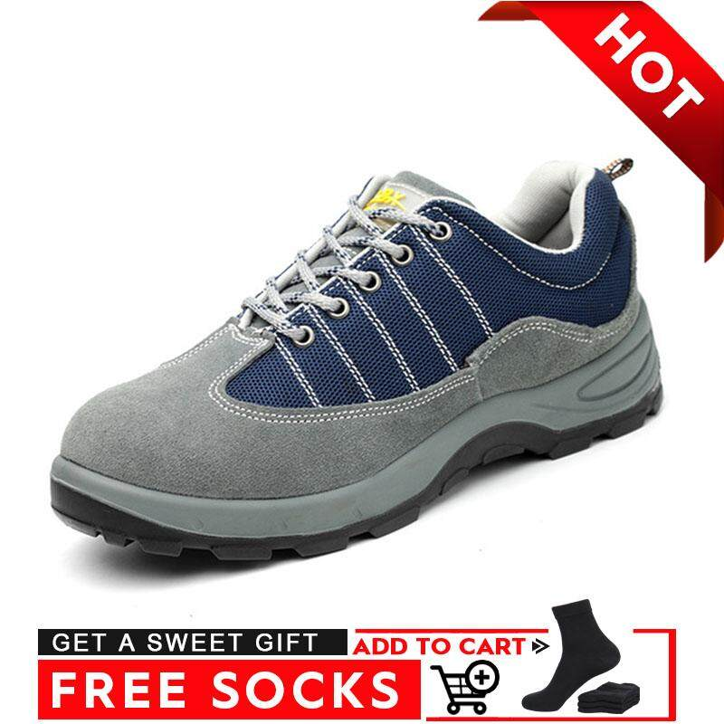 Border【high Quality 】anti-Mite Thorn-Proof Steel Toe Cap Breathable Labor Insurance Shoes Non-Slip Deodorant Safety Shoes By Border Store.