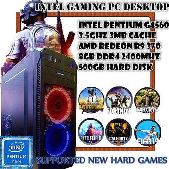 GAMING PC DESKTOP INTEL PENTIUM G4560 3.5GHZ,NVIDIA GTX950 2G, 8GB DDR4 2400MHZ RAM, SUPPORTED PUBG HIGH SETTING