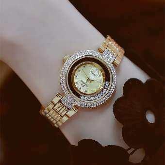 BS Bee Sister 1583 ใหม่สไตล์สุภาพสตรีแฟชั่นลำลองนาฬิกาแบรนด์ชั้นนำเวอร์ชั่นเกาหลีเต็ม rhinestone โนเบิลและส่องแสงสแตนเลสนาฬิกาเพชรผู้หญิงของขวัญนาฬิกาข้อมือ