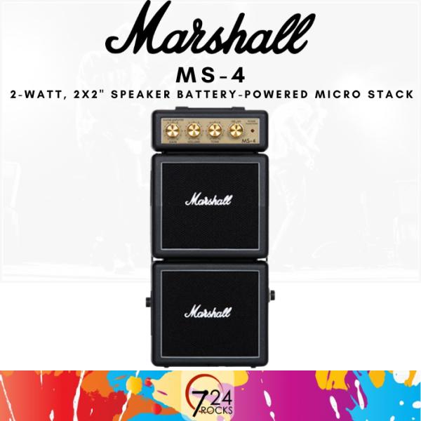 724 ROCKS Marshall MS-4 1-watt Battery-powered Micro Stack Guitar Amp / Amplifier Malaysia