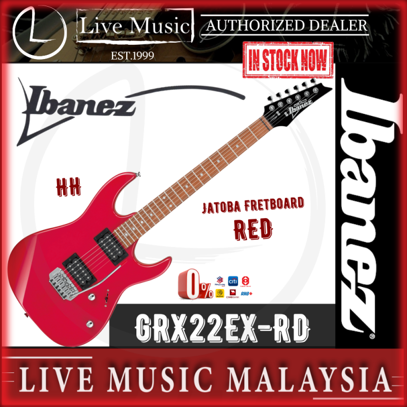 Ibanez GRX22EX GIO Series Solidbody Electric Guitar - Red (GRX22EX RD) Malaysia