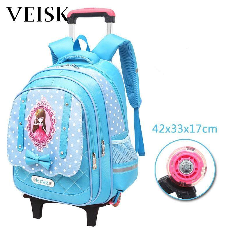 Veisk Primary School Students Rod Bag Removable Three Rounds Of The Stairs