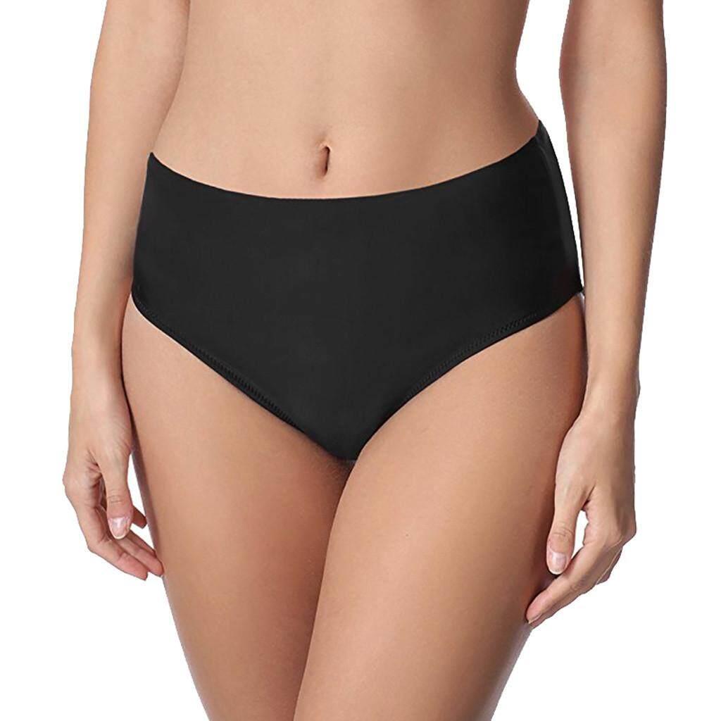 7c7ad7b986d32 Aynshop Women Solid Mid Waist Beach Bikini Bathing Swimwear Brief Trunks