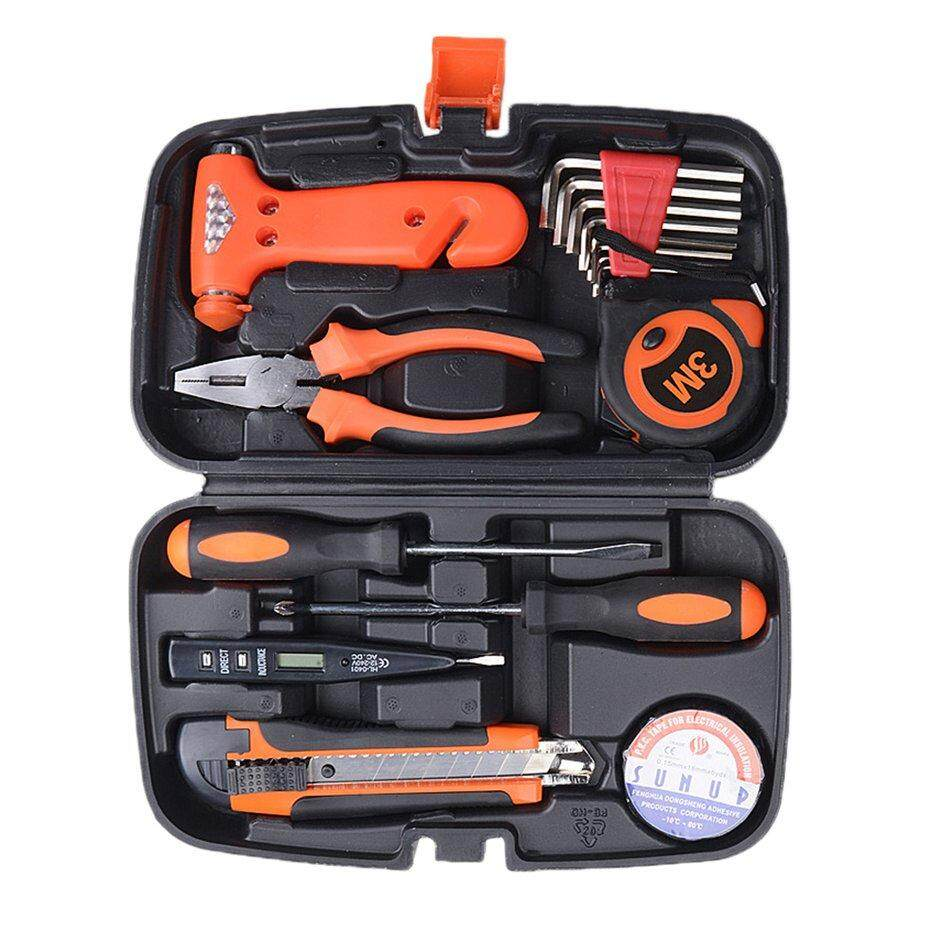HERE 9PCS/SET Motorcycle Car Repair Tool Box Precision Ratchet Wrench Set Tool Kit