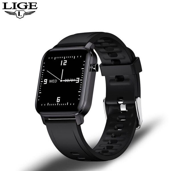 LIGE New Full Touch Screen Smart Watch Women Sport Heart Rate Blood Pressure IP68 Waterproof Smartwatch relojes inteligentes Malaysia