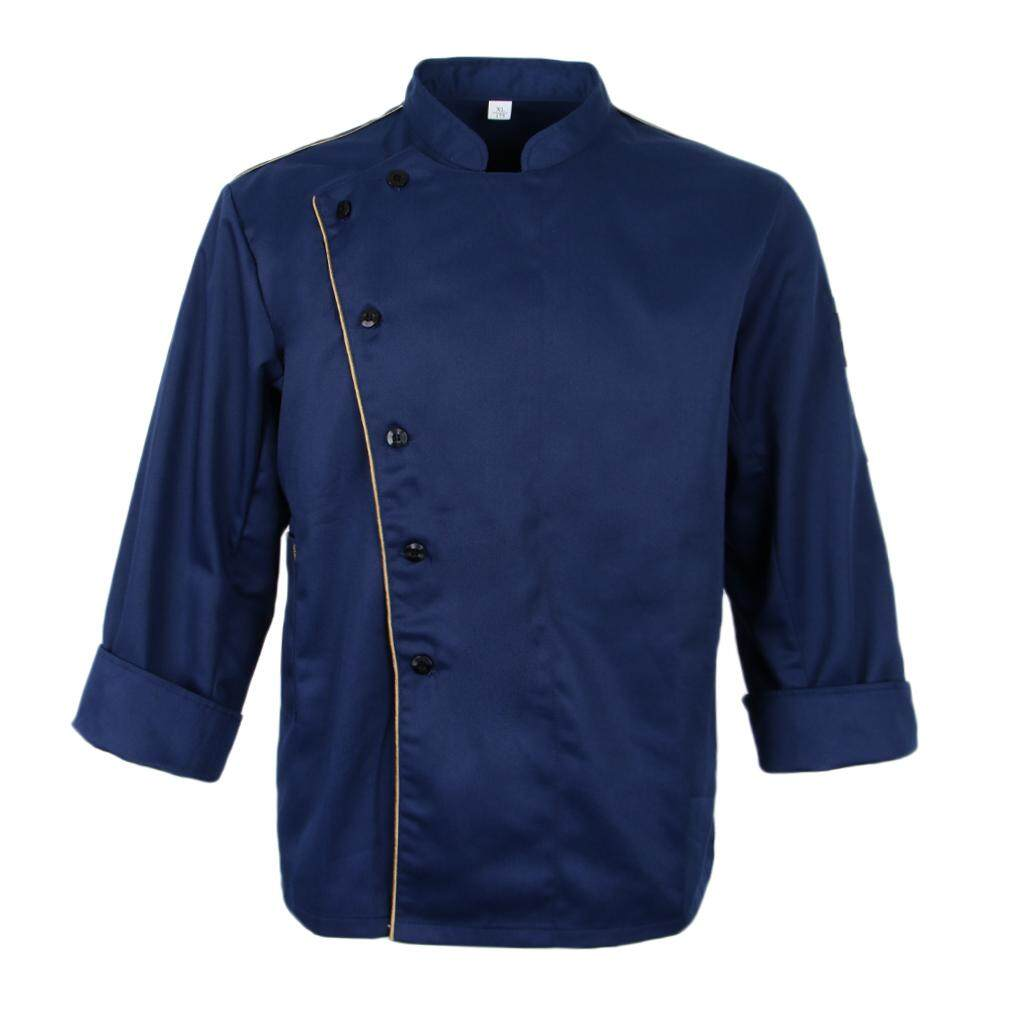 Fenteer Chef Uniforms Unisex Long Sleeve Single Breasted Catering Jackets Coats