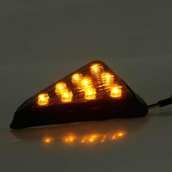 Dovewill 1 Cặp Xe Máy Tam Giác LED Bật Đèn Tín Hiệu Bóng Đèn Khói Màu Vàng 12V
