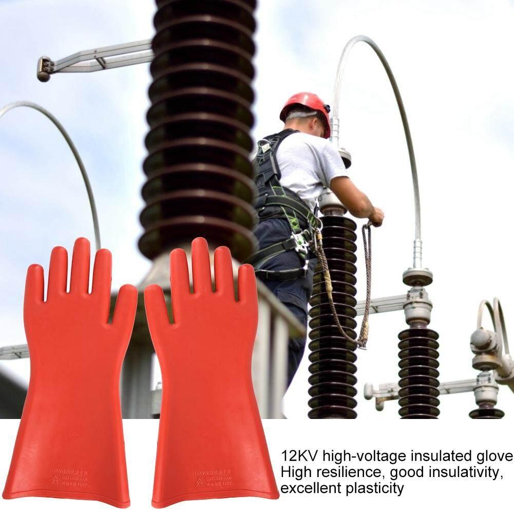 12KV điện Cao áp Chống Cao Su Găng Tay Cách Nhiệt Chống Thấm Nước An Toàn Điện Găng Tay Bảo Vệ