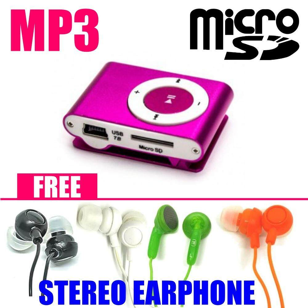 MINI METAL CLIP ON MP3 PLAYER with MicroSD Slot [MEMORY NOT INCLUDED] MUSIC  PLAYER FOR OUTDOOR SPORT/FASHION/ANYTIME ANYWHERE