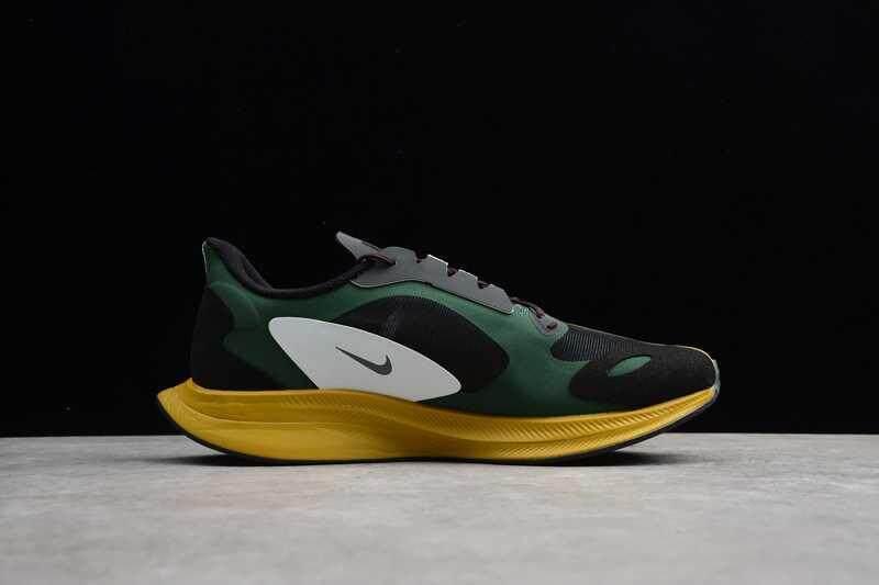 Kualitas Original_Nike Zoom Pegasus 35 Turbo Gyakusou Pria Bernapas Sepatu Kasual Sepatu Kets Olahraga Hitam/Hijau/Kuning BQ0579-300