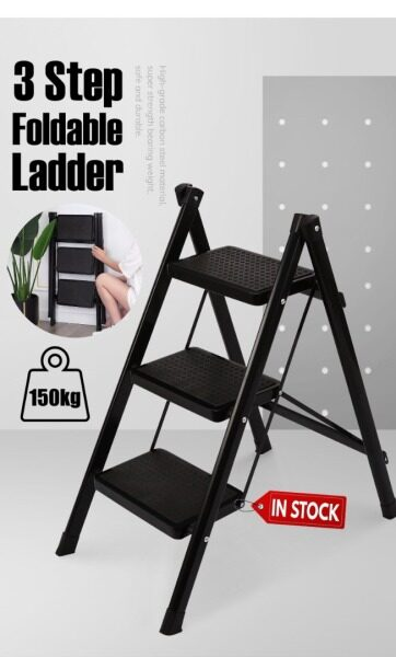 [Ready Stock]  3 Step Lightweight Foldable Ladder