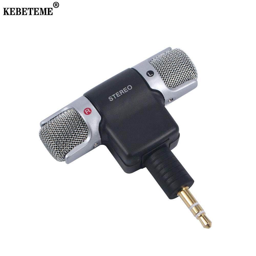 KEBETEME Bộ micro chuyển đổi âm thanh nổi cỡ nhỏ giắc cắm 3.5mm dùng cho máy tính cá nhân, máy tính xách tay - INTL
