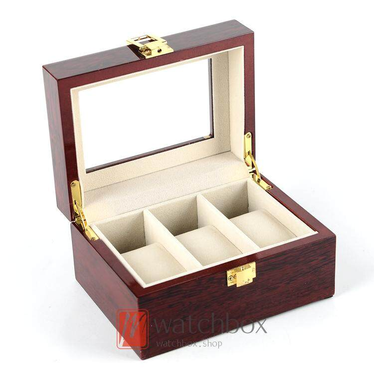 3 slot high-grade paint wooden watch box storage box Malaysia