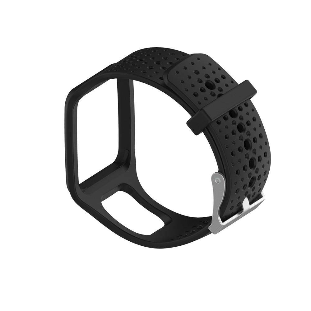 【Planiesty】 Replacement Silicone Band Strap For TomTom Multi Sport / Cardio GPS Watch BK