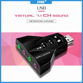 JTKE Thẻ Âm Thanh USB Thẻ Âm Thanh 3D 7.1 Kênh Bộ Chuyển Đổi Mic, Tai Nghe Âm Thanh Nổi Giắc Cắm 3.5Mm Dành Cho Android Linux Dành Cho Mac OS thumbnail