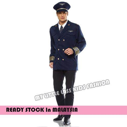 Adult Halloween Smart Pilot Air Force Occupation Cosplay Costume above 12y toys for girls