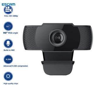ESCAM, Webcam USB Megapixel HD 1080P Máy Ảnh Cảm Biến CMOS Có Mic, Dành Cho Máy Tính PC Máy Tính Xách Tay thumbnail