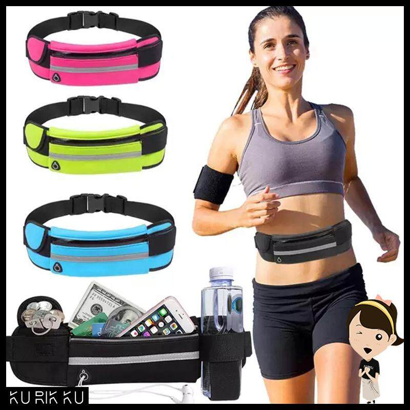 Running Belt Waist Bags Women Men Waterproof Pouch Bag Outdoor Sports Money Waist Belt Cellphone Bags With Headset Hole By Kurikkuhouz.