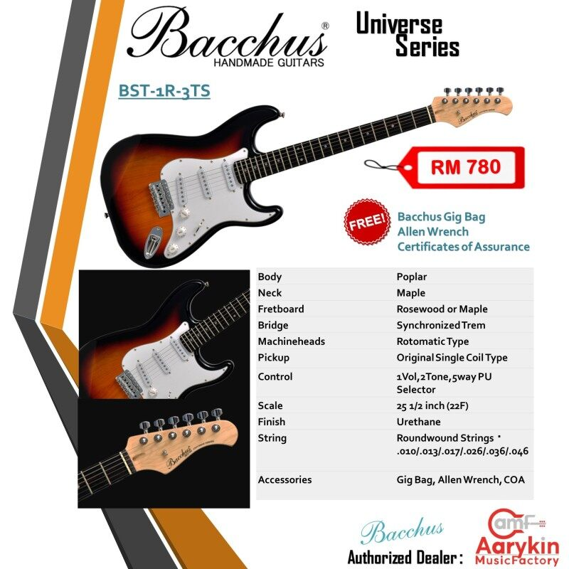 Bacchus Stratocaster BST-1R-3TS Malaysia