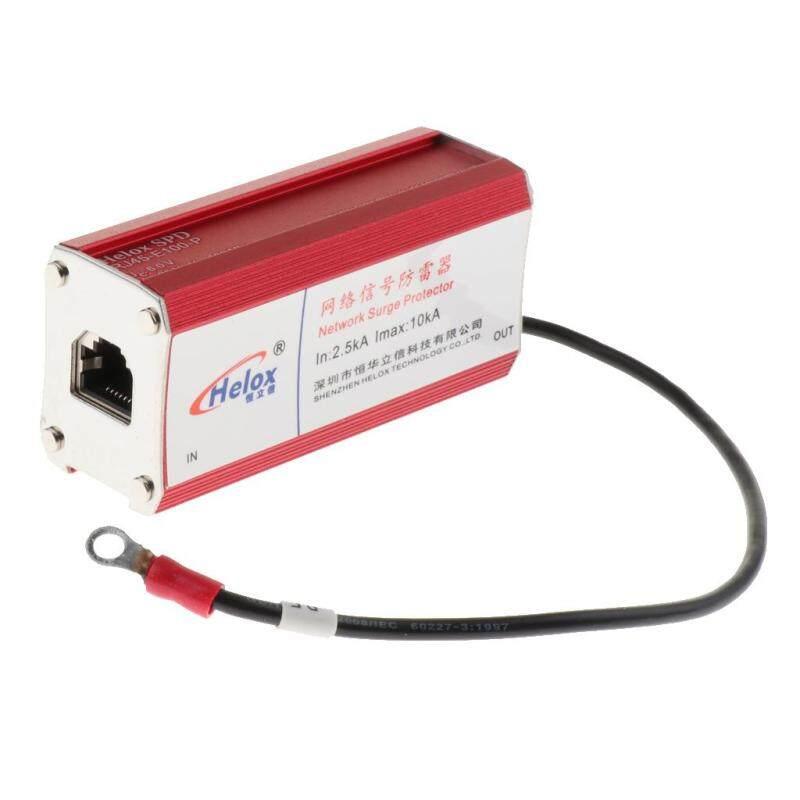 SunniMix Ethernet Lan 100M RJ45 Surge Protector for Thunder&Lightning Protection Red