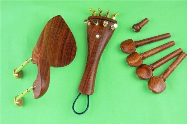 New Luthier Top Rosewood Bộ Phận Viola Chốt Đuôi Chinrest Endpin