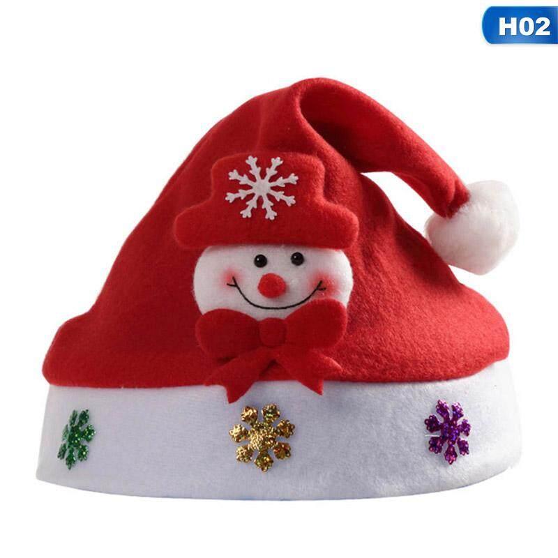 Santa Claus Plush Aviator HAT Trapper Cap Adjustable Size Unisex Child to Adult