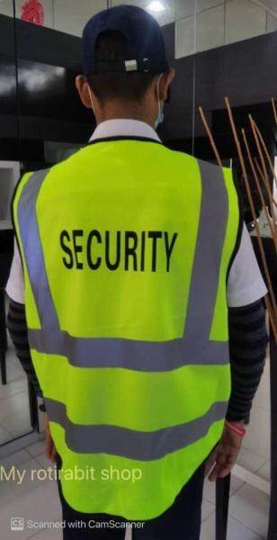SAFETY REFLECTIVE VEST (with & without SECURITY WORD with four pockets)