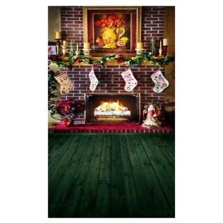 Phông Nền Giáng Sinh, Phòng Cửa Sổ Mùa Đông Cây Lò Sưởi Nội Thất, Phông Nền Chụp Ảnh Sinh Nhật Cho Bé Cho Studio Ảnh thumbnail