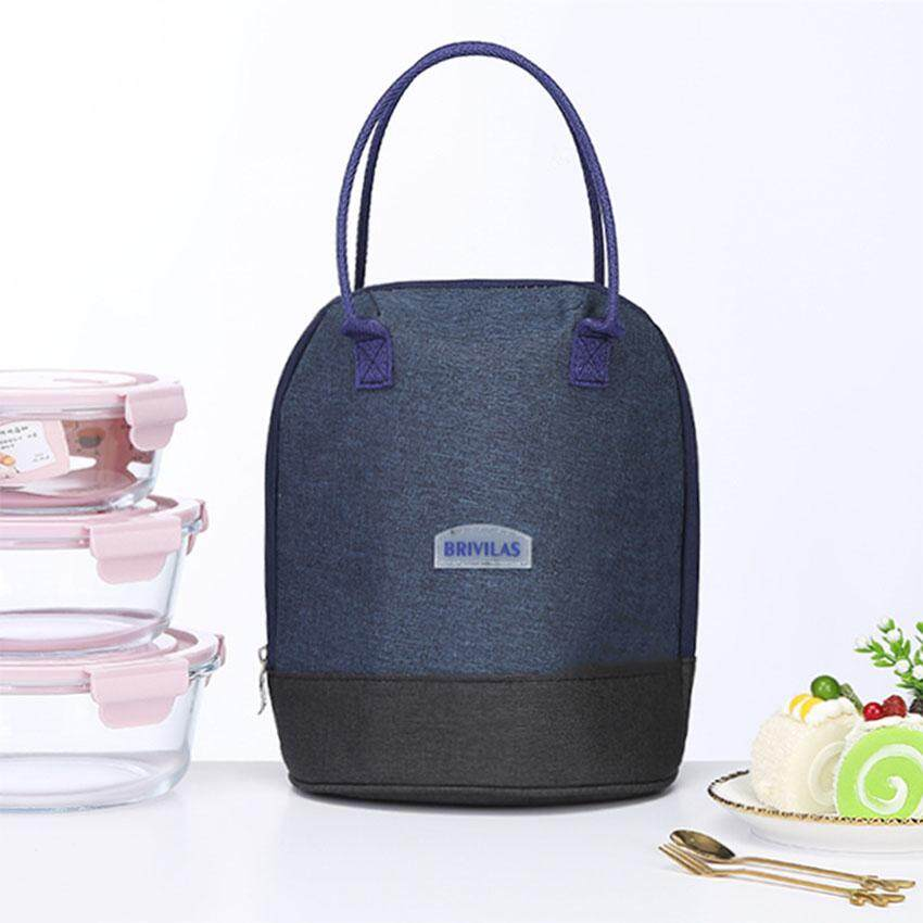 Reusable Lunch Box Bag Portable Carry Cooler Bag Insulated Picnic Lunch Box Lunch Drawstring Tote Bag Handbag With Aluminum Foil For Children Adults School Office Outdoor.