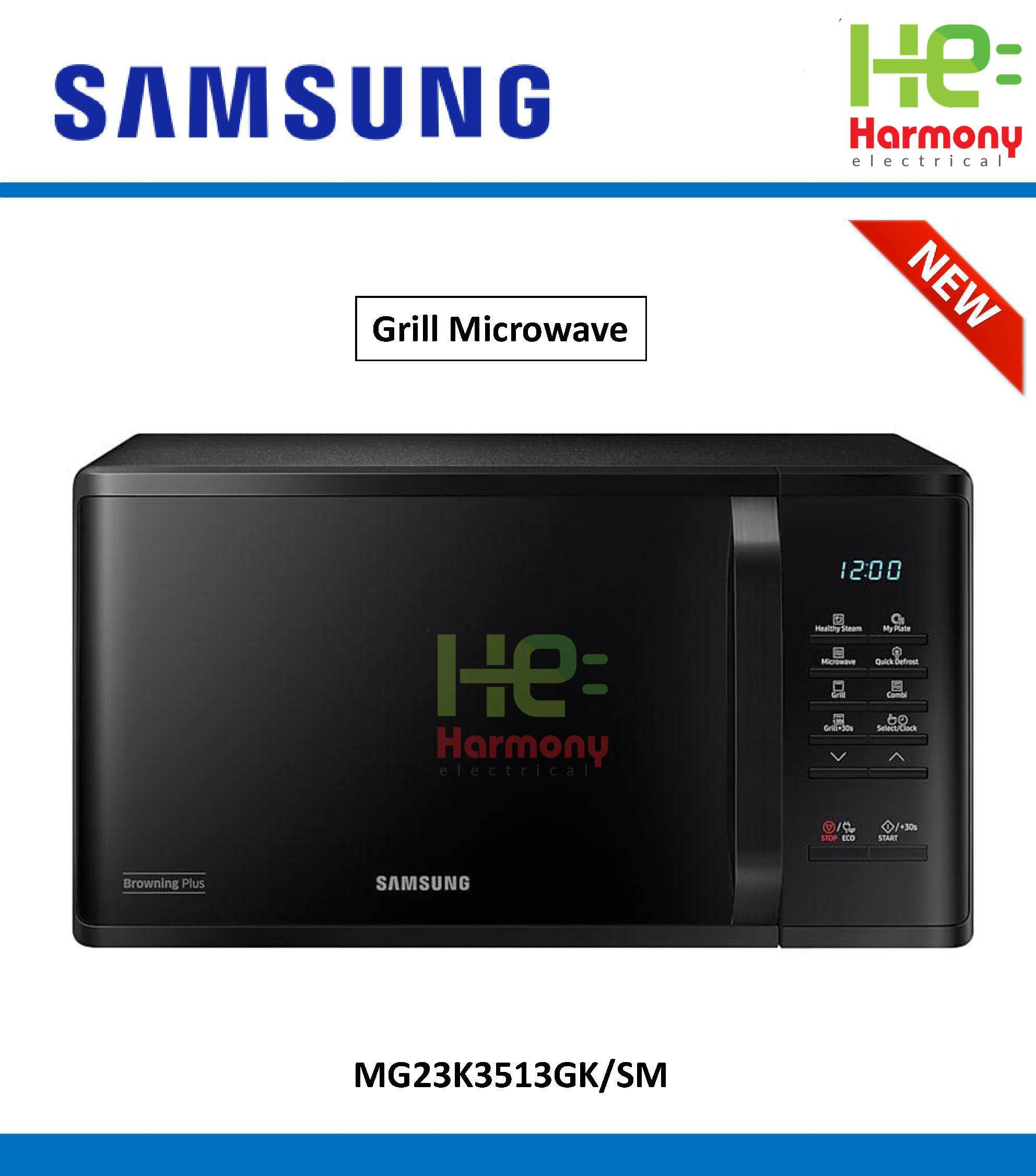 Best Er Samsung 23l Grill Microwave Oven With Healthy Steam Mg23k3513gk Sm