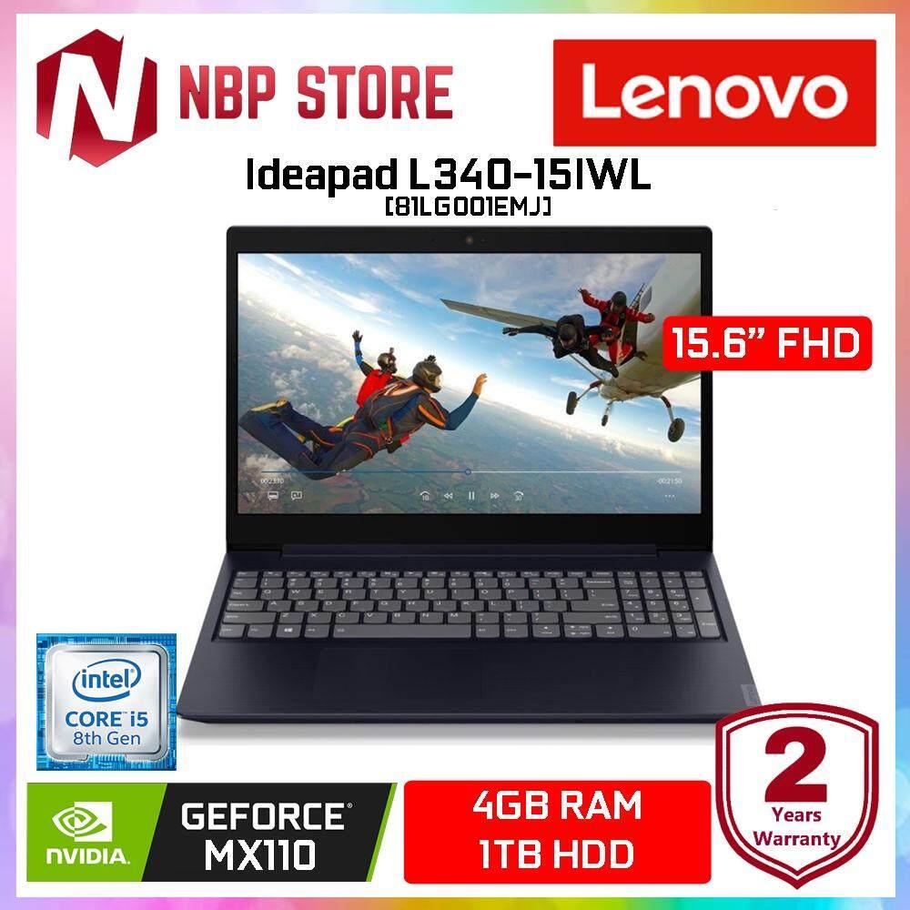 Lenovo Ideapad L340-15IWL 81LG001EMJ 15.6  FHD Laptop Abyss Blue ( i5-8265U, 4GB, 1TB, MX110 2GB, W10 ) Malaysia