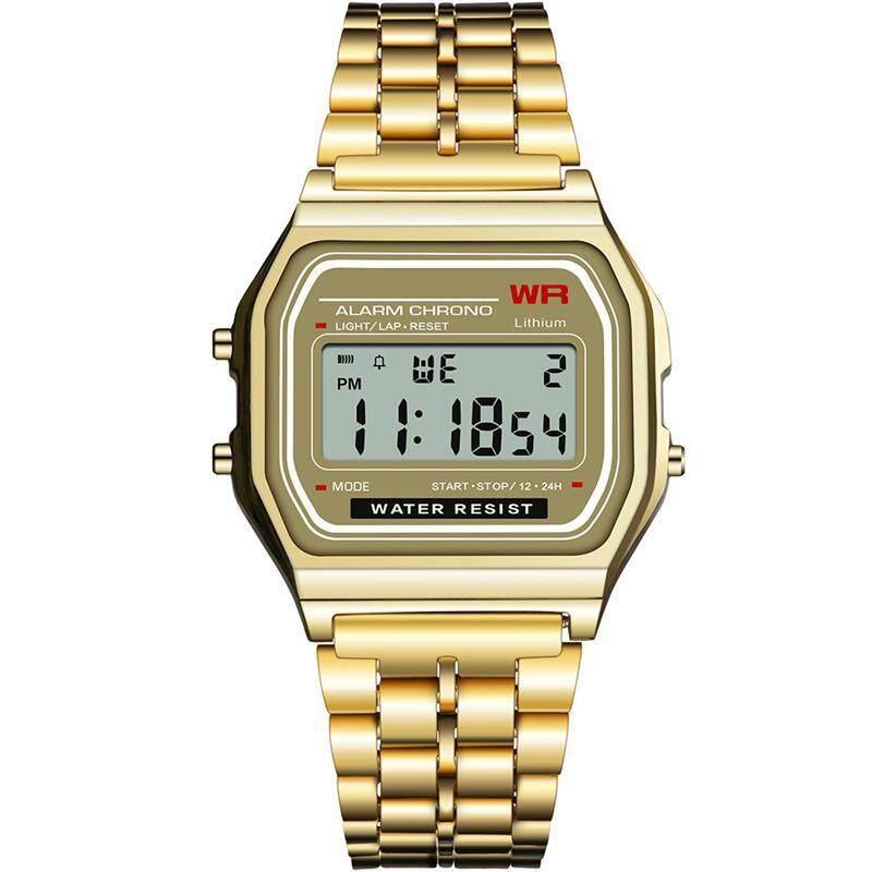 G&B F91W Digital watches, Elemental wind and European and American popular F91W ultra-thin steel belt electronic watch Malaysia