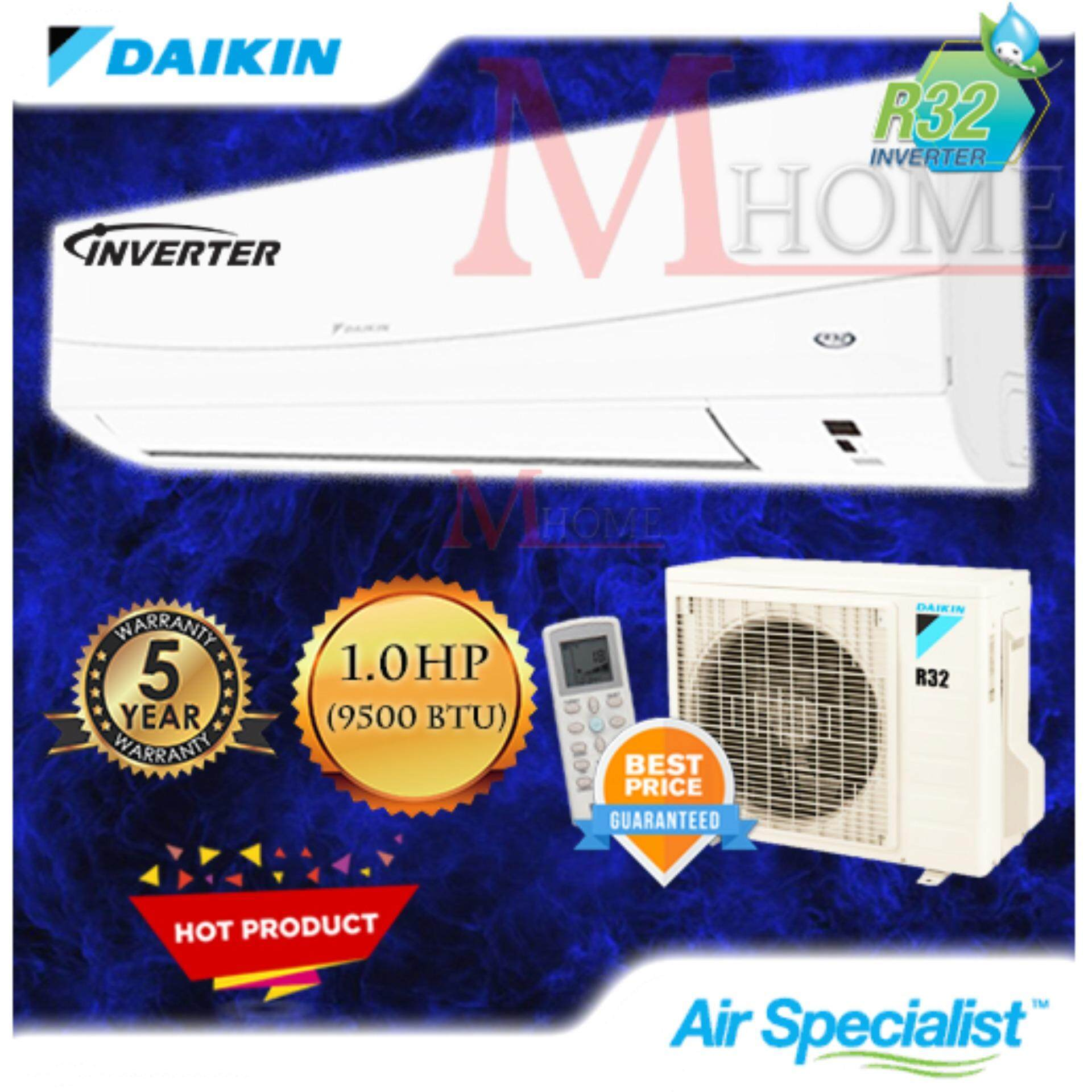(NEW) Daikin 1 0hp Inverter Wall Mounted Air Conditioner  FTKG28QV1L/RKG28FV1D (R32 Gas)