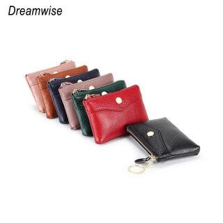 Dreamwise Coin Ví Cho Nữ Da Bò Thật Phong Cách Đơn Giản Hàn Quốc Ví Nữ Ngắn Mini Chìa Khóa Nhỏ Túi Ví Đựng Thẻ thumbnail