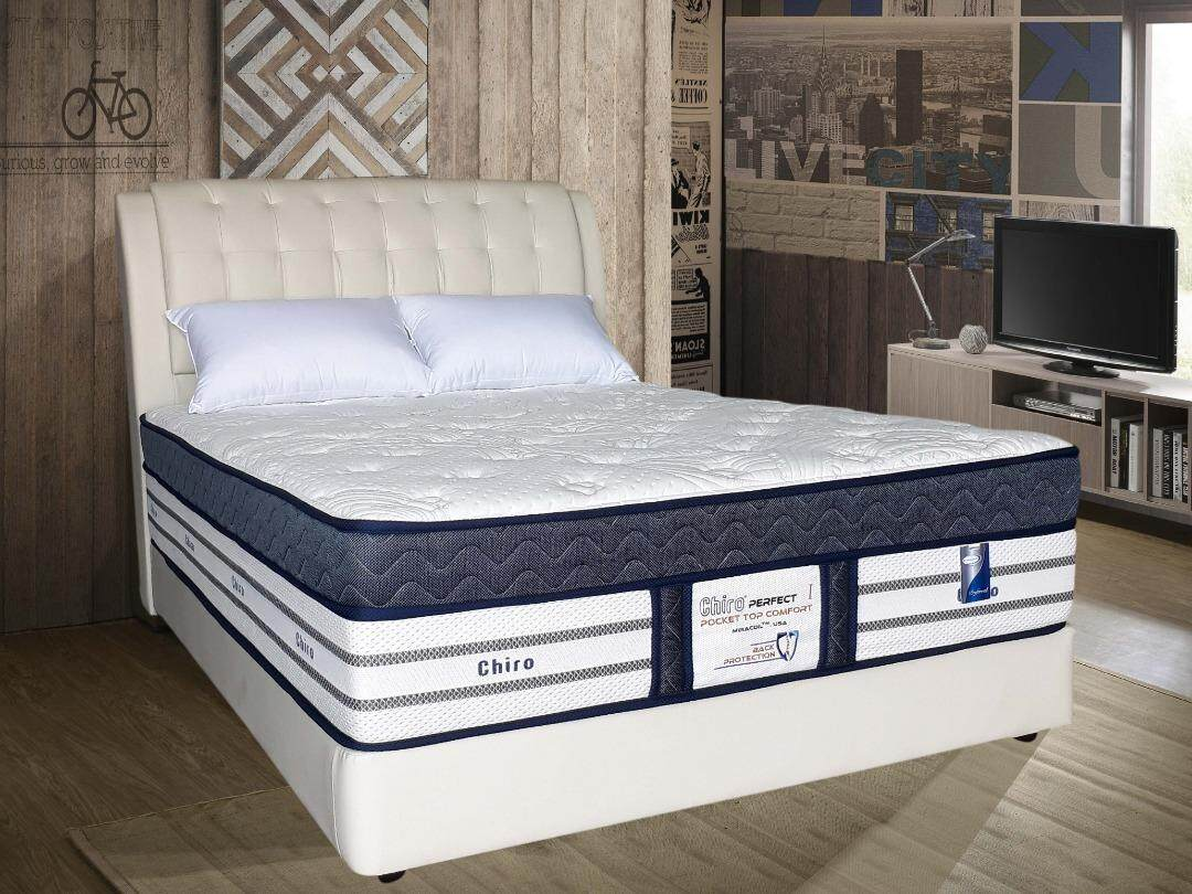 Dreamland Chiro Perfect I 16-Inches Premium Mira-Coil / Solid Spring Mattress / Mattress / Tilam / Tidur Nap Bed Mattress With 10 Years Warranty