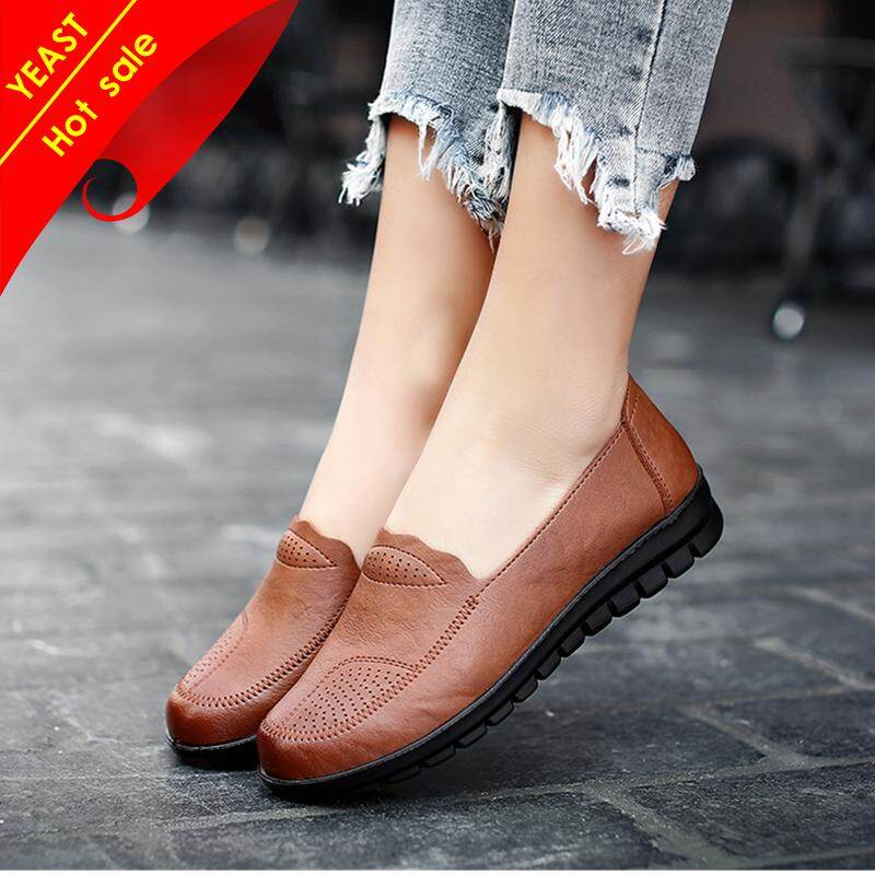 0012734671d5 YEAST PU Light Shoes Women Leather Shoes Casual Shoes For Women Casual Flat  Shoes Ladies Shoes